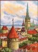Набор для вышивания Башни старого города. Таллин. Крыши 22*30 см